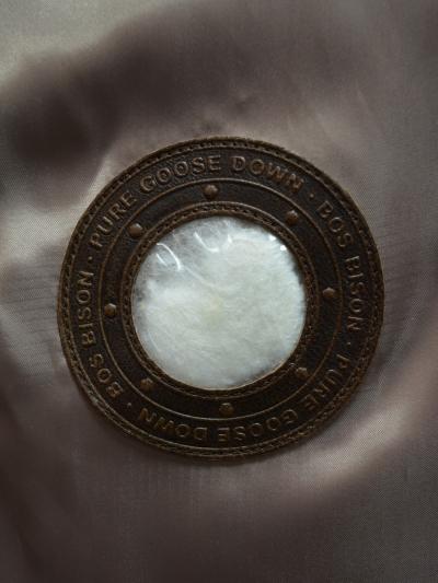 Пуховик из кашемира с собольим воротником
