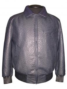 Куртка из кожи страуса